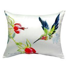 Betsy'S Hummingbird No Cord Pillow 16X20