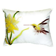 Yellow Hummingbird No Cord Pillow 16X20