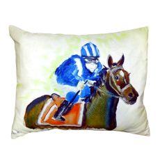 Horse & Jockey No Cord Pillow 16X20
