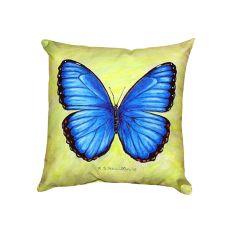 Dick'S Blue Morpho No Cord Pillow 18X18