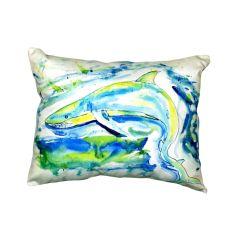 Green Shark No Cord Pillow 16X20
