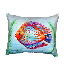 Orange Fish No Cord Pillow 16X20