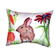 Brown Rabbit Left No Cord Pillow 16X20