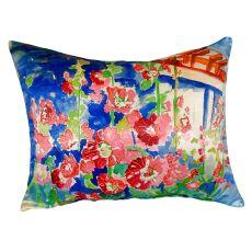 Hollyhocks No Cord Pillow 16X20