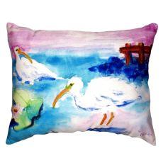 Betsy'S White Ibis No Cord Pillow 16X20