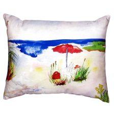 Red Beach Umbrella No Cord Pillow 16X20