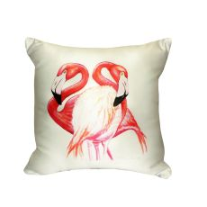 Two Flamingos No Cord Pillow  18X18