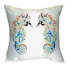 Betsy'S Seahorses No Cord Pillow 18X18