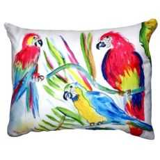 Three Parrots No Cord Pillow 16X20