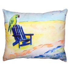 Parrot & Chair No Cord Pillow 16X20