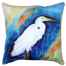 Great Egret Right No Cord Pillow 18X18