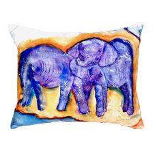 Elephants No Cord Pillow 16X20