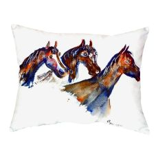 Three Horses No Cord Pillow 16X20