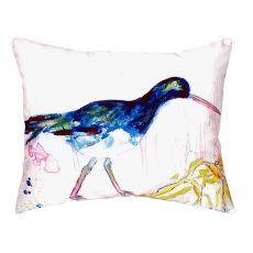 Black Shore Bird No Cord Pillow 16X20