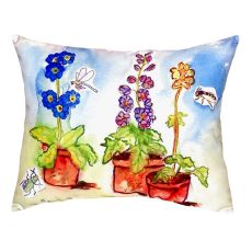 Potted Flowers No Cord Pillow 16X20