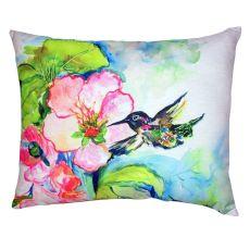 Hummingbird & Hibiscus No Cord Pillow 16X20