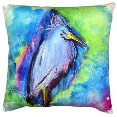 Little Blue Heron No Cord Pillow 18X18