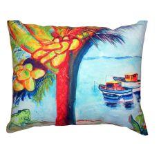 Cocoa Nuts & Boats No Cord Pillow 18X18