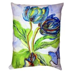 Tulips & Morpho No Cord Pillow 16X20