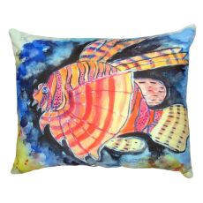 Betsy'S Lion Fish No Cord Pillow 16X20