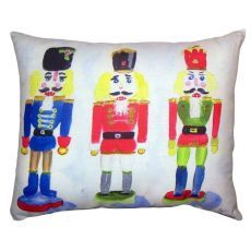 Nut Crackers No Cord Pillow 16X20
