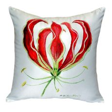 Red Lily No Cord Pillow 18X18