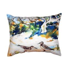 Tree & Beach No Cord Pillow 16X20