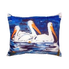 Three Pelicans No Cord Pillow 16X20