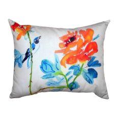 Bird & Roses No Cord Pillow 16X20