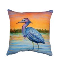 Heron & Sunset No Cord Pillow 18X18