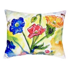 Bugs & Poppies No Cord Pillow 16X20