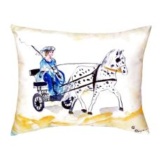 Carriage & Horse No Cord Pillow 16X20