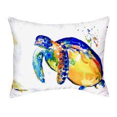 Blue Sea Turtle Ii No Cord Pillow 16X20