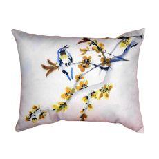 Bird & Forsythia No Cord Pillow 16X20