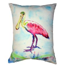 Betsy'S Pink Spoonbill No Cord Pillow 16X20
