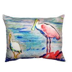 Spoonbill & Ibis No Cord Pillow 16X20