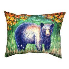 Black Bear No Cord Pillow 16X20