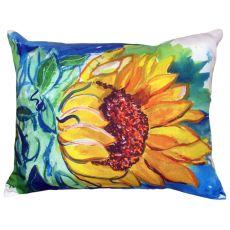 Windy Sunflower No Cord Indoor/Outdoor Pillow 16X20