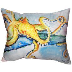 Gold Octopus No Cord Indoor/Outdoor Pillow 16X20
