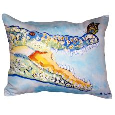 Croc & Butterfly No Cord Indoor/Outdoor Pillow 16X20