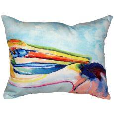 Pelican Head No Cord Indoor/Outdoor Pillow 16X20