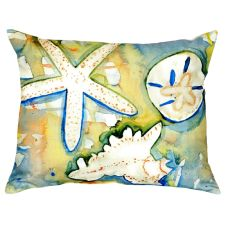 Beach Treasures No Cord Pillow 16X20