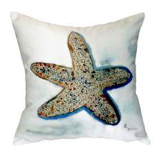 Betsy'S Starfish No Cord Pillow 18X18