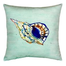Betsy'S Shell - Teal No Cord Pillow 18X18