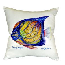 Blue Ring Angelfish No Cord Pillow 18X18