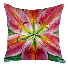 Pink Lily No Cord Pillow  18X18