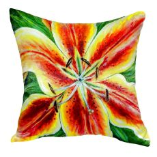 Yellow Lily No Cord Pillow 18X18