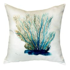 Blue Coral No Cord Pillow 18X18