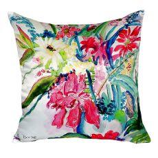 Multi Florals No Cord Pillow 18X18