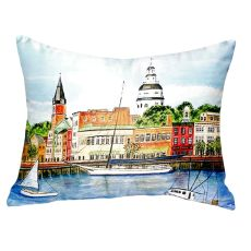 Annapolis City Dock No Cord Pillow 16X20